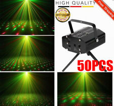 LOT 50 Mini LED R&G Stage Lighting Laser Projector Lights Party DJ Disco Show EO