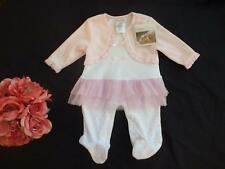NWT PitterPatter Baby Girls 0-3M Velour Romper Tutu One Piece Outfit 0 3 Months