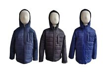 Winter Kids Boys Girls Snowsuit Hooded Warm Quilted Puffer Coat Jacket Age 5-13