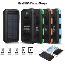 10000mAh Solar Panel Power Bank Battery External Dual USB Charger Portable LED