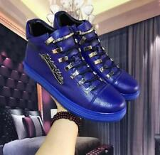 Fashion Genuine Leather Sneakers Men's Ankle Boot Shoes High Top Classic