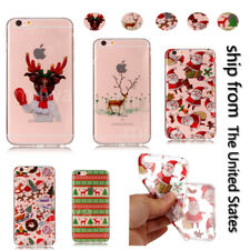 Christmas Cute Cartoon Design Skin Soft TPU Back Case Cover For iPhone 6s Plus