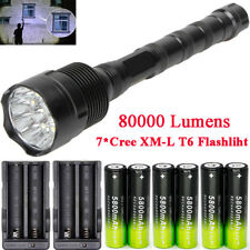 80000LM  XM-L T6 Zoom LED Flashlight Torch Lamp Rechargeable 18650BTY Charger*