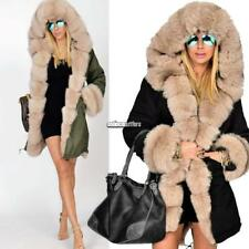 New Women Winter Long Warm Thick Parka Faux Fur Jacket Hooded Coat ONMF01 01