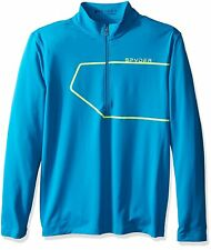 Spyder Mens Shirt Commander Therma Stretch T-Neck Pullover 1/2 Zip Long Sleeve