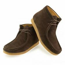 NEW MENS SUEDE WINTER CASUAL LACE UP BROWN ANKLE DESERT WALLABEE BOOTS SHOES UK