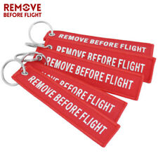 5Pcs Remove Before Flight Key Chain Embroidery Keychain Ring for Aviation Gifts