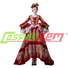 Medieval Renaissance Medieval red Ball Gown Wedding Dress Royal ROCOCO Costume
