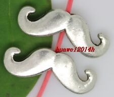 10/50/250pcs Tibet silver mustache Interval Charm Spacer Beads 16x6mm