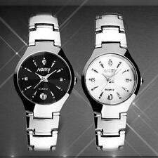 Ladies Luxury Quality Nary Quartz Crystal Face Date Stainless Steel Wrist Watch.