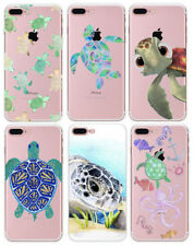 Ultra Thin Tortoise Cover Soft TPU Clear Phone Case For iPhone X 5 6 6s 7 8 Plus