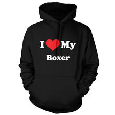 I Love My Boxer - Unisex Hoodie / Hooded top - Dog - Canine - Puppy