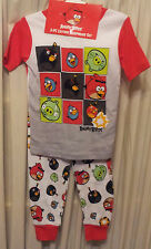 Angry-Birds-Size-4-Pajama-Set-Star-Wars-3-Pieces-Long-Pants-SS-Top-Shorts-Cotton