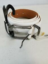 NWT$40 Nike Golf Men's White Leather Belt With Laser Etched Buckle