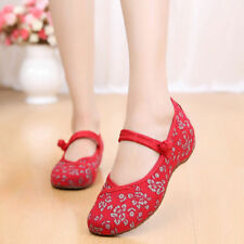 Old Beijing Shoes Slipsole Small Flower National Style Embroidered Shoes red