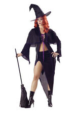 Spellbound Witch black shiny Adult woman Costume Sexy Halloween S,M or L