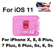 R-SIM 12 New 2018 SIM Unlock Apple iPhone X 8 7 6 6s 5S 4G LTE iOS 11 SPRINT USA
