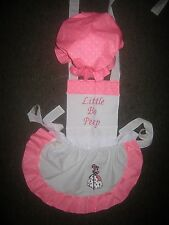 LADIES LITTLE BO PEEP COSTUME APRON & MOP TOP HAT Made to Order
