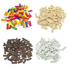 50pcs Rectangle Handmade Wooden Buttons 2 Holes Tags Label for DIY Crafts 30mm