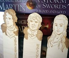 Game of Thrones personalised bookmark fan engraved birthday gift john snow