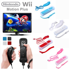 2in1 Motion Plus Remote+Nunchuck Controller for Nintendo Wii+Silicon Case
