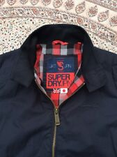 SUPERDRY - Black - Zip Up - Two Pocket - Harrington - Jacket - Size L