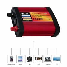 Car Power Inverter DC12V to AC240V with 2 USB Ports+AC Outlet 300W/500W/1000W 6@