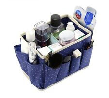 Foldable Cosmetic Storage Box Dot Pattern Non-woven With 8 Pocket Home Organizer