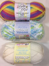 3 Types of Yarn for Babies! U-Choose! Bernat Pipsqueak, Giggles or Baby Bee 100g