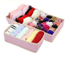 Fold-able Home Storage Underwear Box Non-woven Closet Draw Dividers Organizers