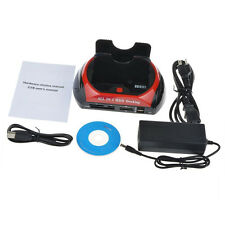 HDD Docking Station Dual USB 2.0 2.5/ 3.5 Inch IDE SATA External HDD Box PP