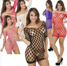One Size Stripperwear, Exotic Dancer, Stripper Clothes Fishnet Dress Colorful