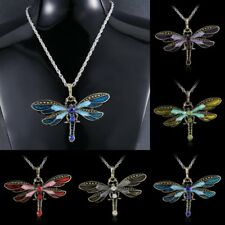 Classic Dragonfly Women & Men Retro Sweater Long Chain Pendant Necklace Jewelry