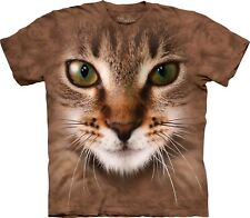 Striped Cat Face Cats T Shirt Adult Unisex The Mountain