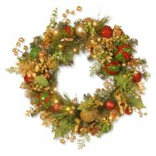 National Tree Company 30 in. Decorated Prelit Christmas Wreath