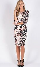 TEABERRY Bodycon Dress Brown Black White animal print 8 10 12 14 16 evening BNWT