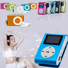 USB Mini Clip MP3 Player LCD Screen Display Support 2/8/16/32GB Micro SD TF Card