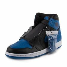 Jordan Nike Mens Air 1 Retro High OG Royal Black/Royal-White Leather Size 8.5