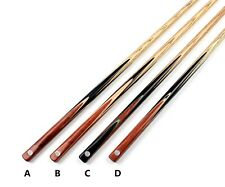 "58"" One 1 Piece Pool Snooker Cue Ash Shaft Handmade Mahogany Cues Case Extension"