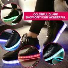 Men LED Lighting High Top Light Up Shoes Flashing USB Charging Lace-up Shoes 07