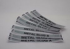 METAL SLUG Label NEO GEO MVS Cartridge sticker 2 , 3 , 4 , 5 , X