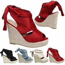 Janelle Womens High Wedges Heels Platforms Sandals Ladies Peep Toe Shoes Size