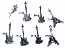 Guitar Clamp Metal Rock Band Music Rock & Roll 925 Silver Stainless Steel