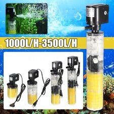 1000-3500L/H Submersible Water Internal Filter Pump For Aquarium Fish Tank Pond~
