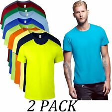 Mens Tee Pack of 2-Anvil TShirt Value Pack-Adult Fashion T-Shirt Value Pack