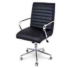NEW Executive PU Leather Office Computer Chair Black