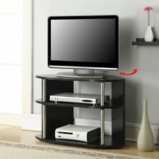 Convenience Concepts Designs2Go™ Swivel TV Stand - Black and Stainless