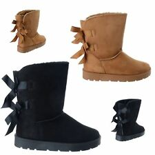 New Ladies Womens Fur Lined Grip Sole Winter Warm Snugg Ankle Boots Shoes Size