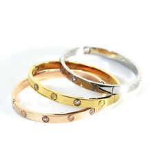 Love Forever Womens Bangles With Crystal Bracelet Silver Gold Rose New Fashion