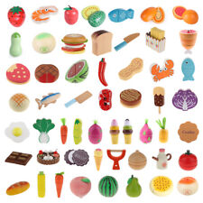 Play House Wooden Magnet Connected FRUITS VEGETABLES Pretend Play Food Kids Toy